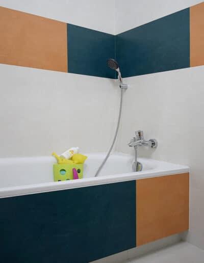 projektanci wnętrz D002 lazienka mieszkanie raszyn Łazienka dziecięca w Raszynie