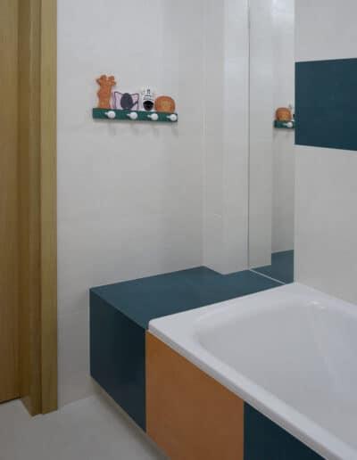 projektanci wnętrz D007 lazienka mieszkanie raszyn Łazienka dziecięca w Raszynie