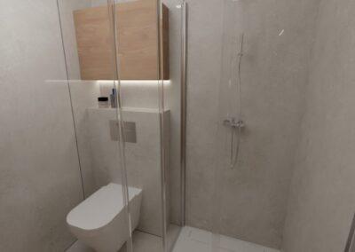 Łazienka duże formaty mała przestrzeń