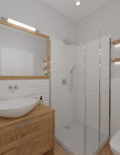 projektanci wnętrz lazienka od salonu 1a Mała łazienka z cegiełką