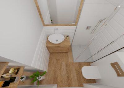 Mała łazienka z cegiełką