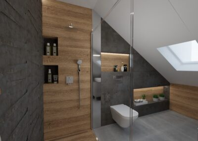 Mała łazienka białe szafki