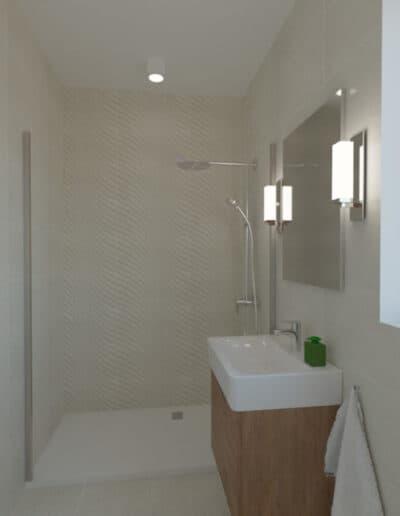 projektanci wnętrz lazienka z prysznicem fale 1a Łazienka w piaskowych kolorach
