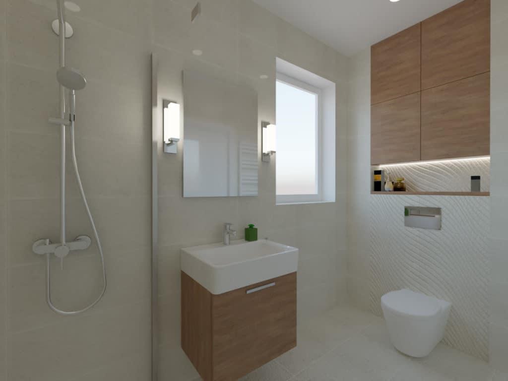 projektanci wnętrz lazienka z prysznicem fale 1b Łazienka w piaskowych kolorach