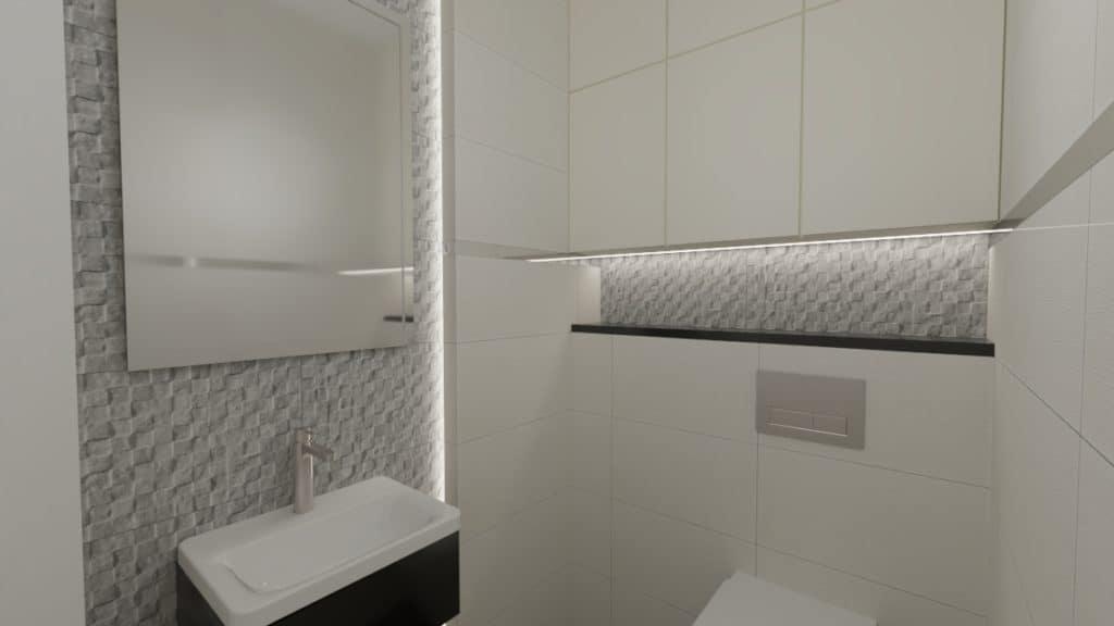 projektanci wnętrz lazienka z wc szara 1a Łazienka szara struktura