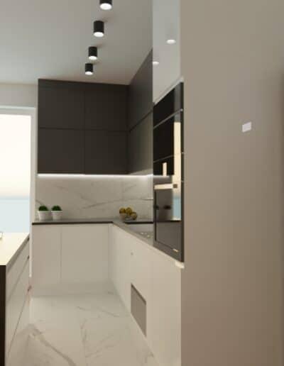 projektanci wnętrz mieszkanie na goclawiu 1c Mieszkanie na Gocławiu kuchnia salon