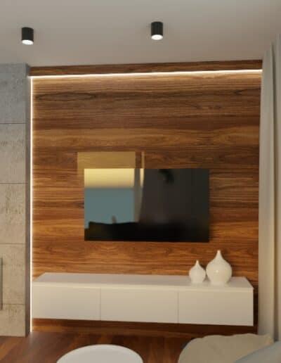 projektanci wnętrz mieszkanie na goclawiu 1e Mieszkanie na Gocławiu kuchnia salon