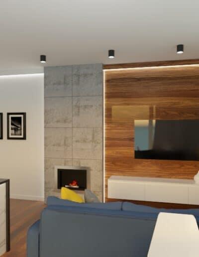 projektanci wnętrz mieszkanie na goclawiu 1f Mieszkanie na Gocławiu kuchnia salon