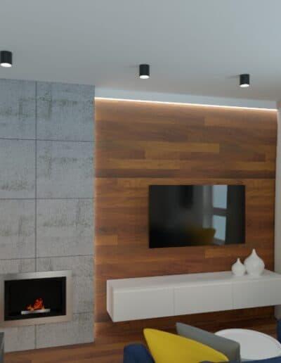 projektanci wnętrz mieszkanie na goclawiu 1g Mieszkanie na Gocławiu kuchnia salon