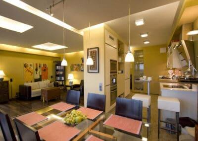 Mieszkanie na Mokotowie Kuchnia z Salonem