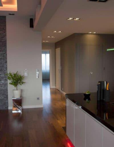 projektanci wnętrz mieszkanie na zoliborzu kuchnia 1D Kuchnia otwarta na salon Żoliborz