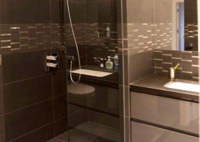 Łazienka w mieszkaniu na Żoliborzu