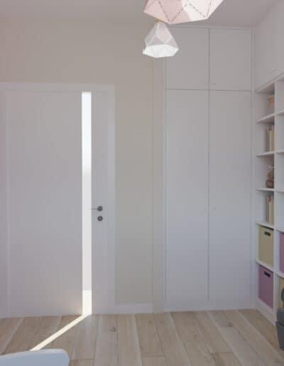 projektanci wnętrz pokoj dziewczynki tapeta las 1d Pokój dla małej dziewczynki z tapetą